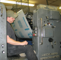 Plate loading on the Heidelberg Speedmastar