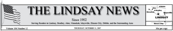 The Lindsay News Header